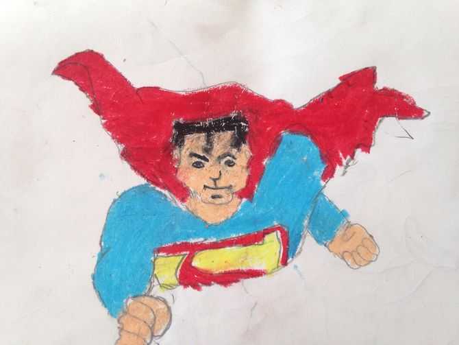 670x503 How To Draw Superman 13 Steps (With Pictures)
