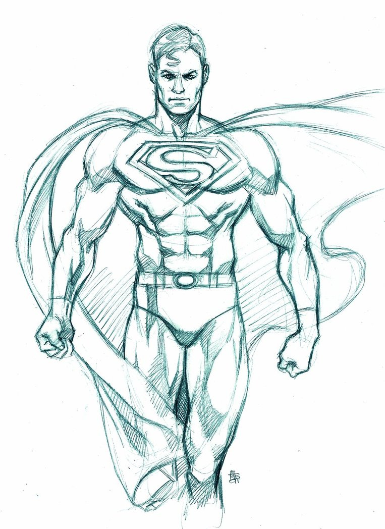 763x1048 Superman Drawing In Pencil Superman Drawing In Pencil Easy