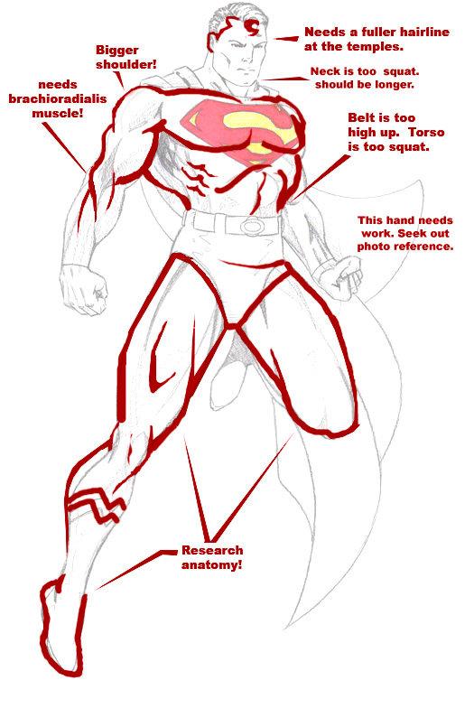 525x805 To Draw Superman