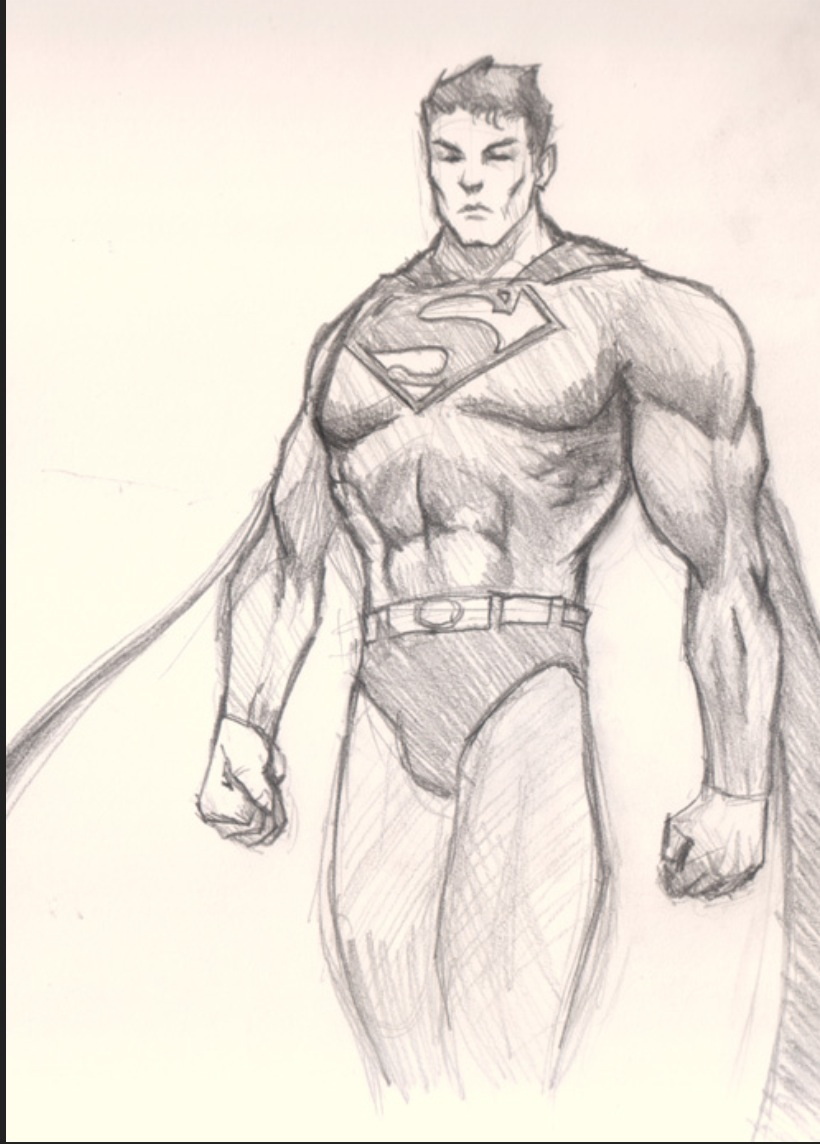820x1144 Superman Drawing, Do This! Art Drawing Ideas