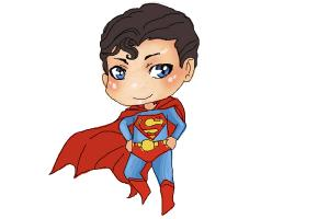 300x200 How To Draw Chibi Superman
