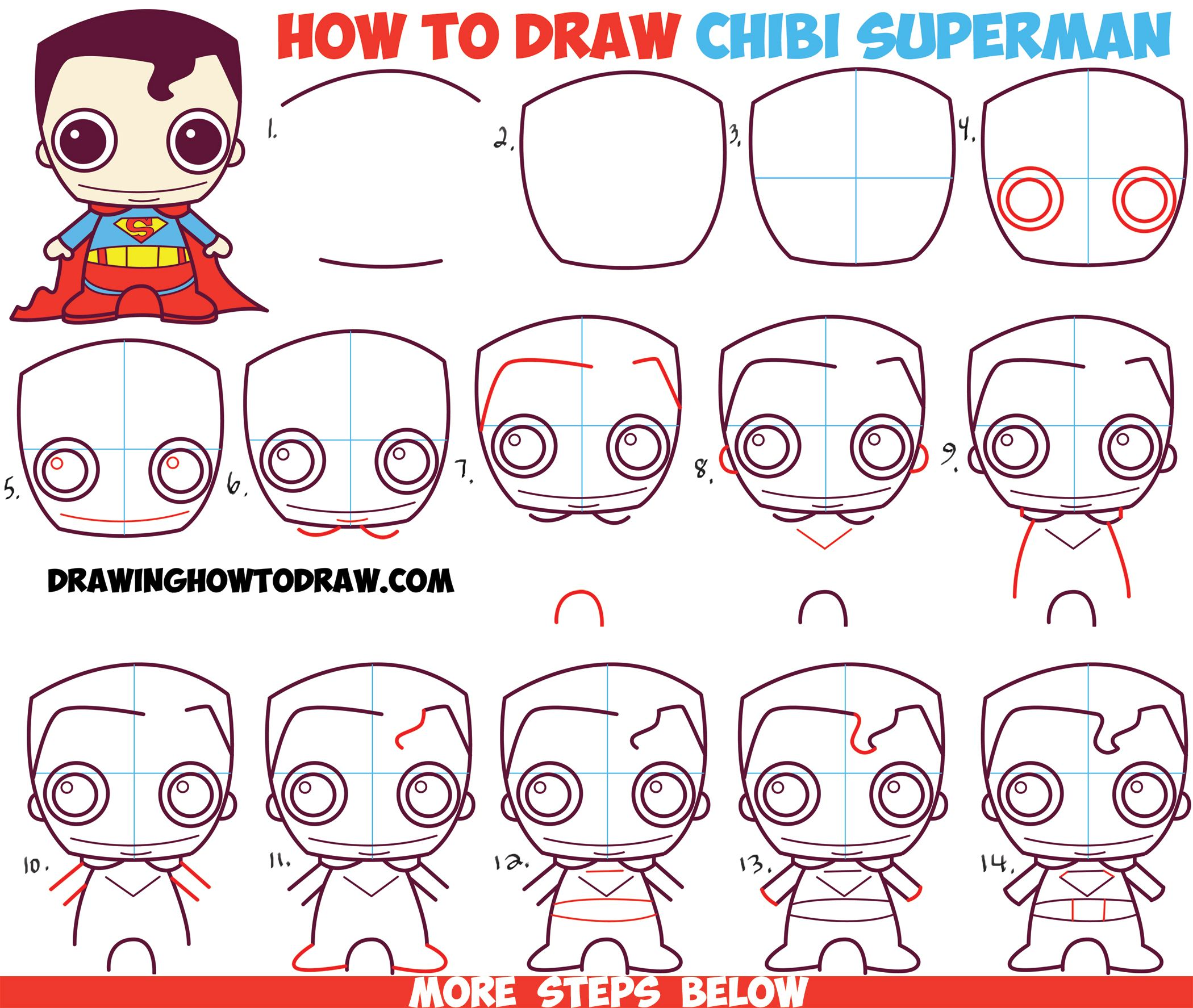 2100x1775 How To Draw Cute Chibi Superman From Dc Comics In Easy Step By