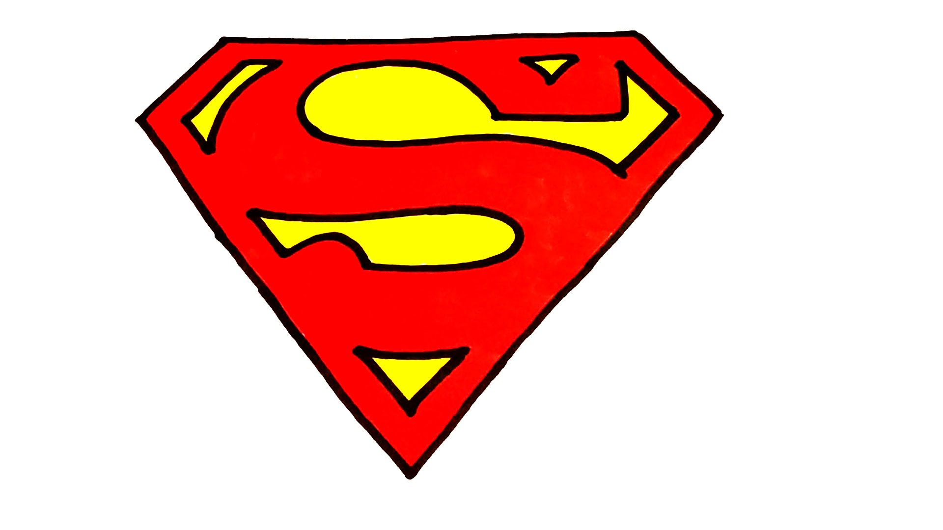 1920x1080 How To Draw Superman Logo Easy For Kids