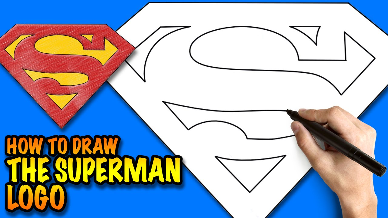 Superman Drawing Easy at GetDrawings.com | Free for personal use ...