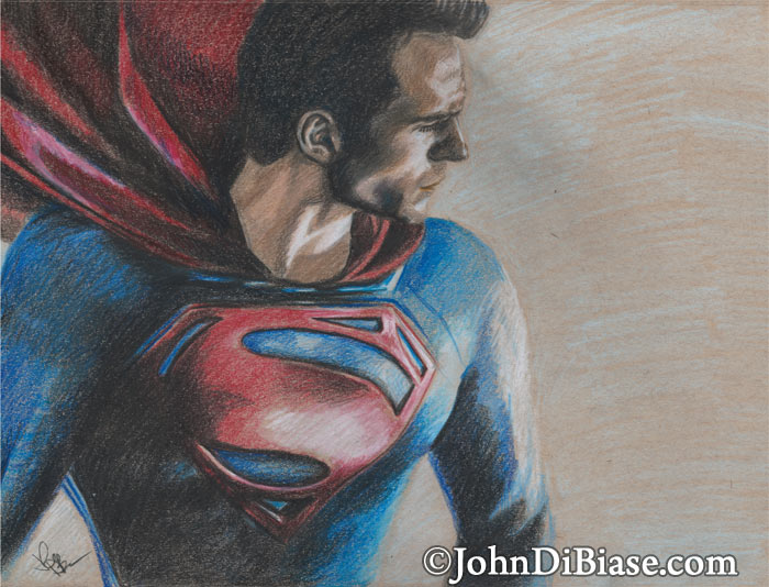 700x534 Colored Pencil Sketch Of Henry Cavill As Superman In Of Steel