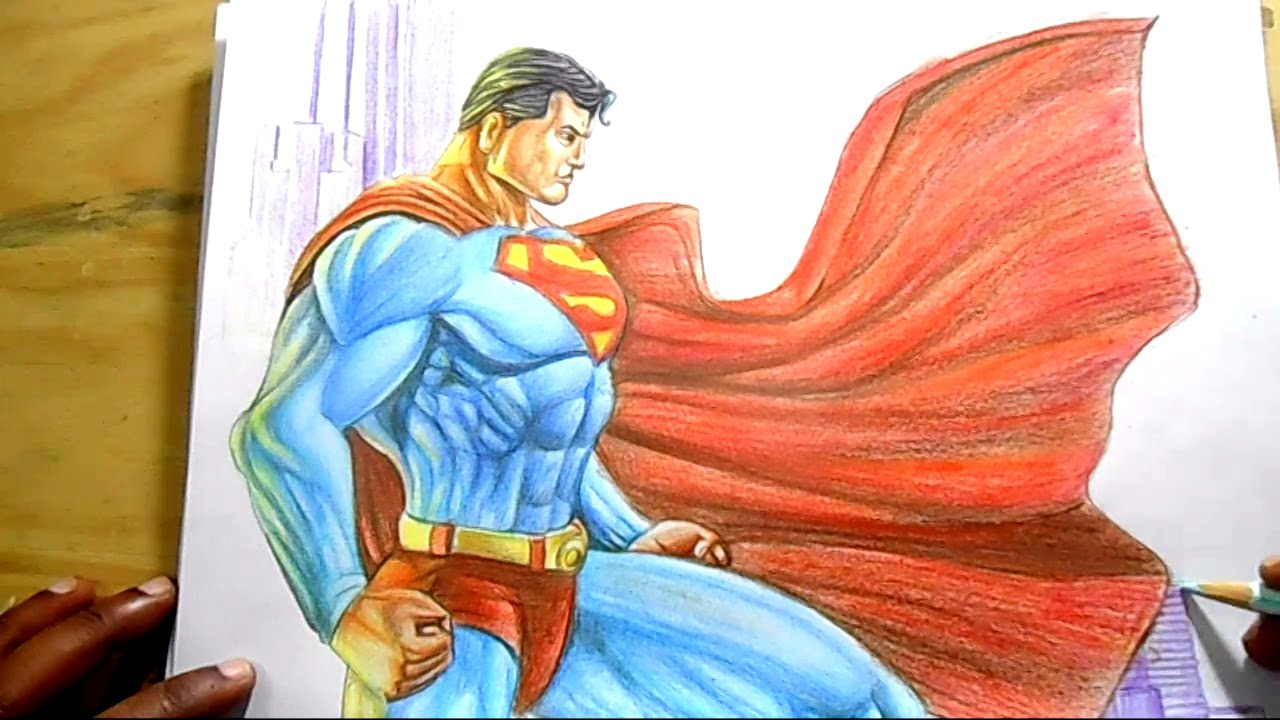 1280x720 How To Draw Superman Step By Step
