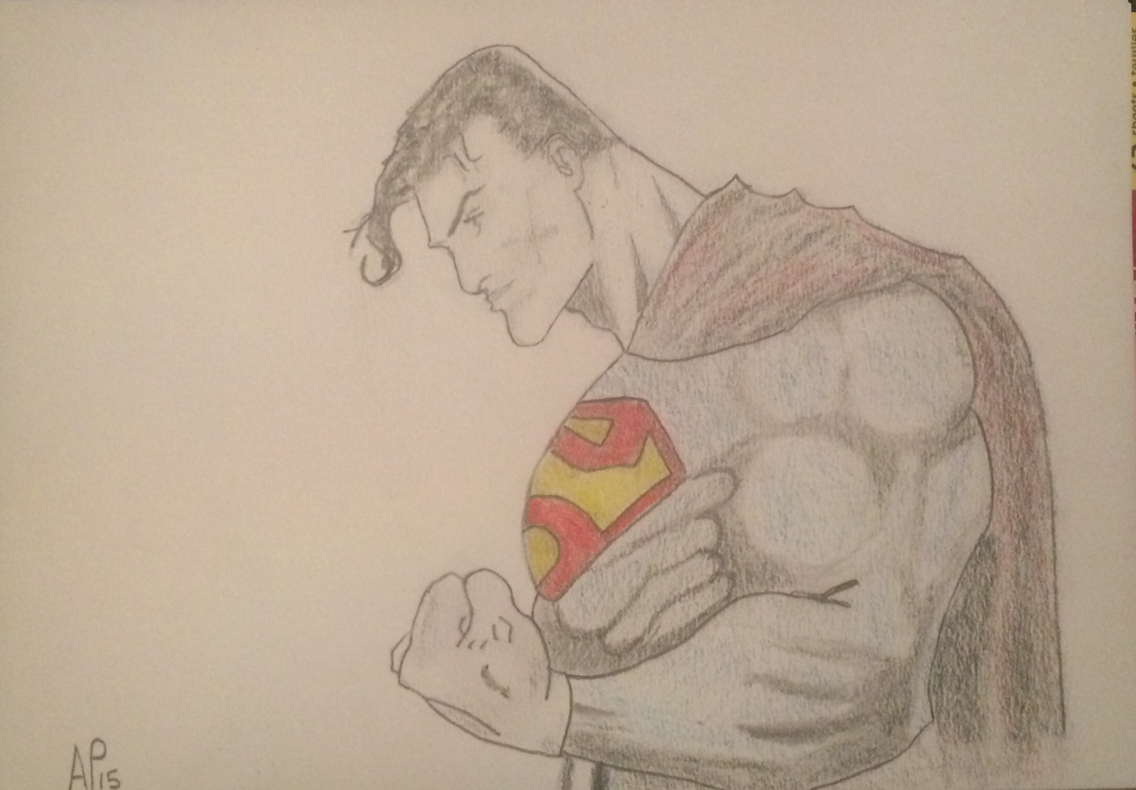 1136x790 Superman Pencil Drawing By Andy Palmer Art Pencil Art