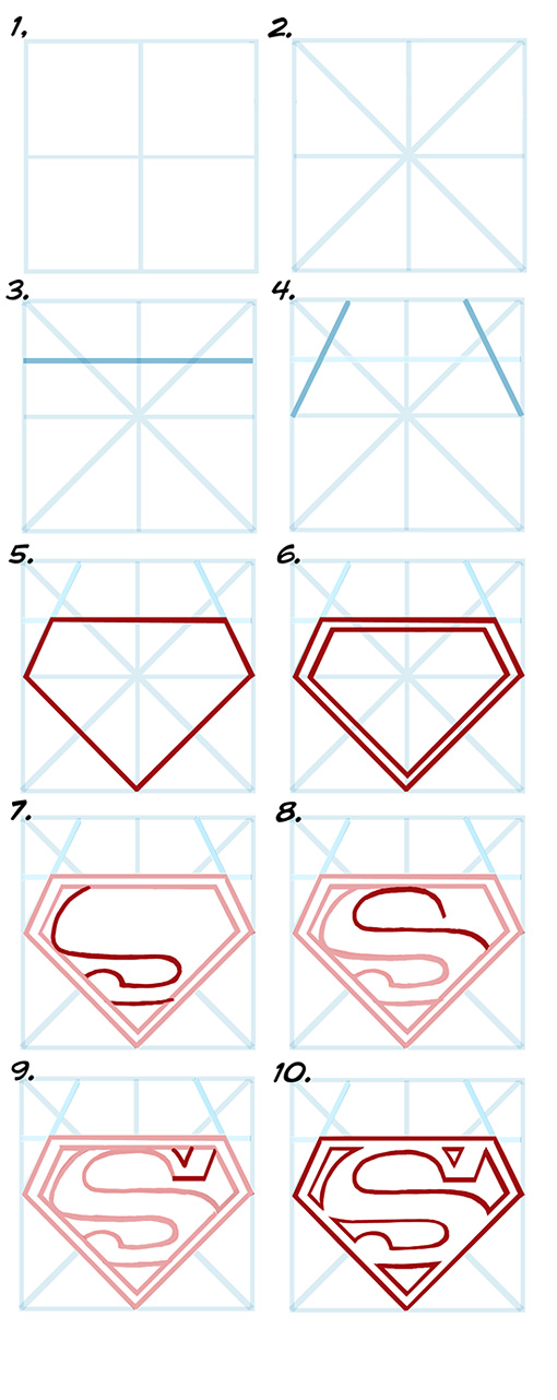 510x1282 Drawing Superman's S Emblem In 10 Steps. To Make