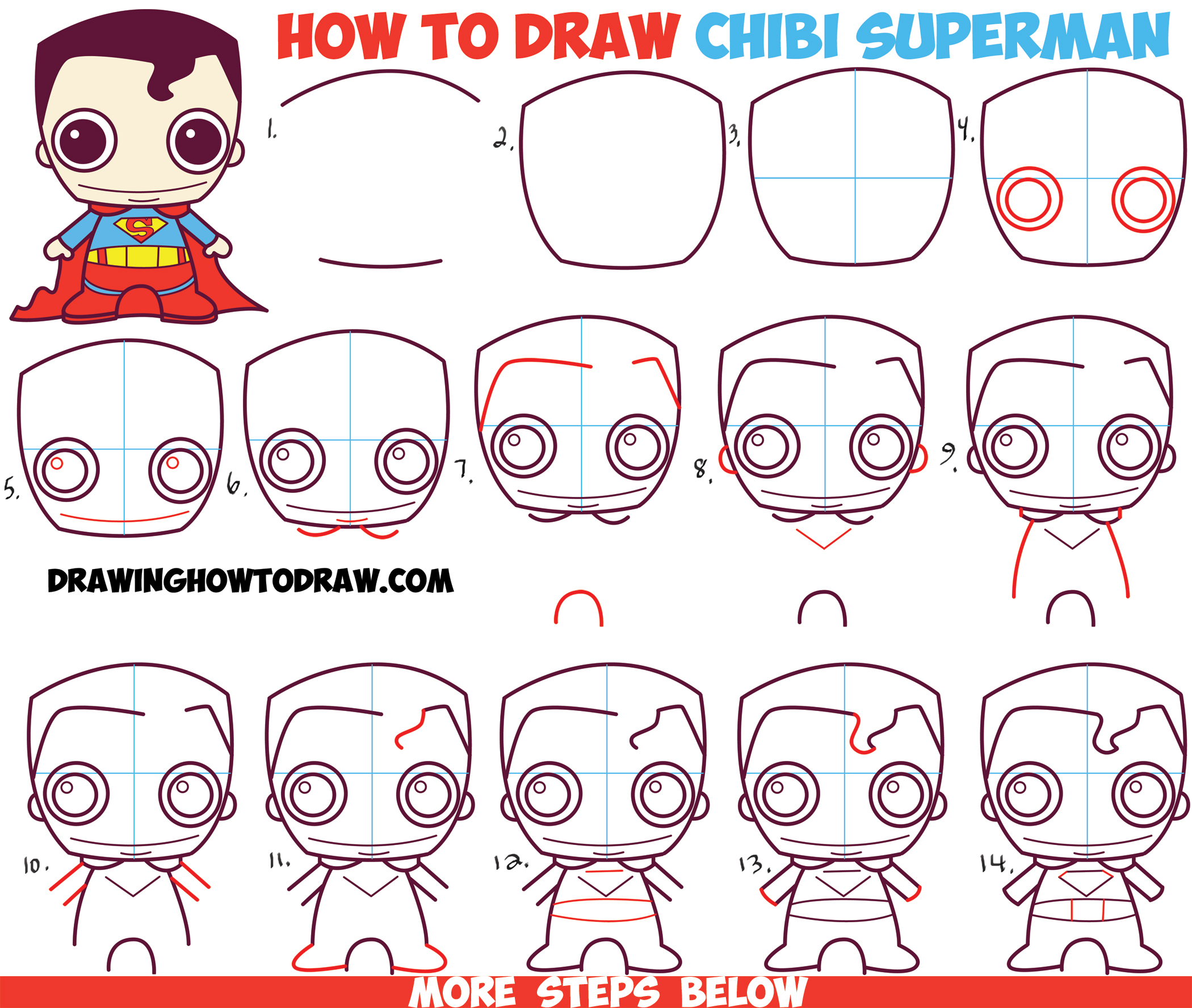 Superman Drawing Tutorial At Getdrawings Free For Personal Use