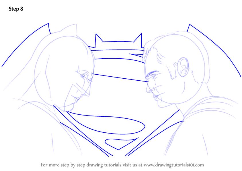 Step Drawing Tutorial 844x598 Learn How To Draw Batman Vs Superman V Dawn Of