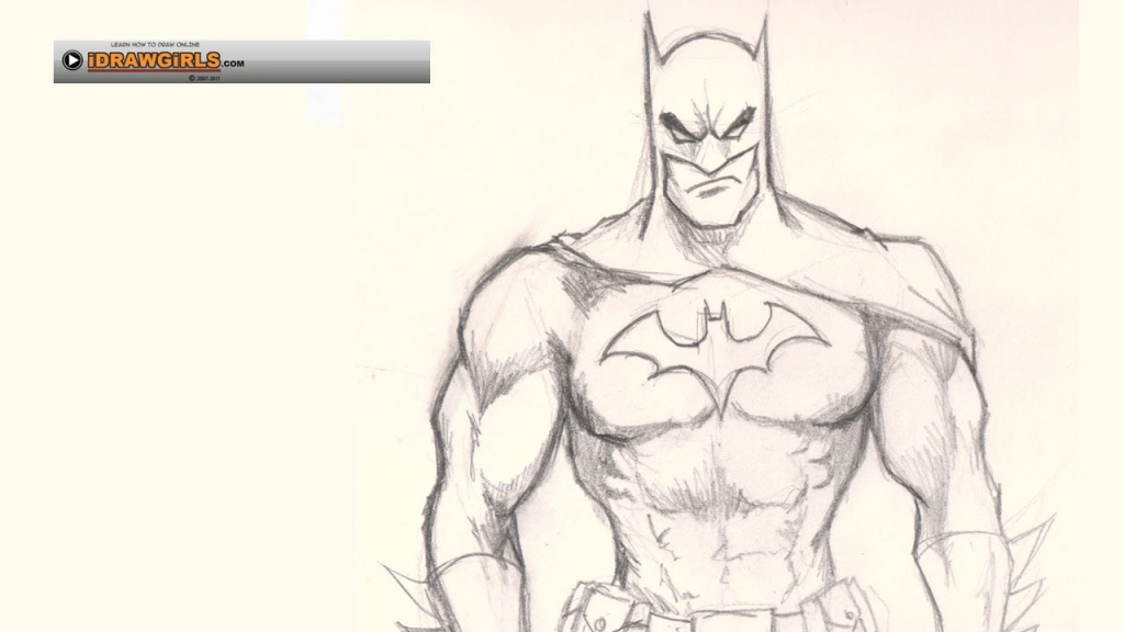 1024x576 Batman Drawing Easy Draw Batman Vs Superman, Stepstep, Drawing