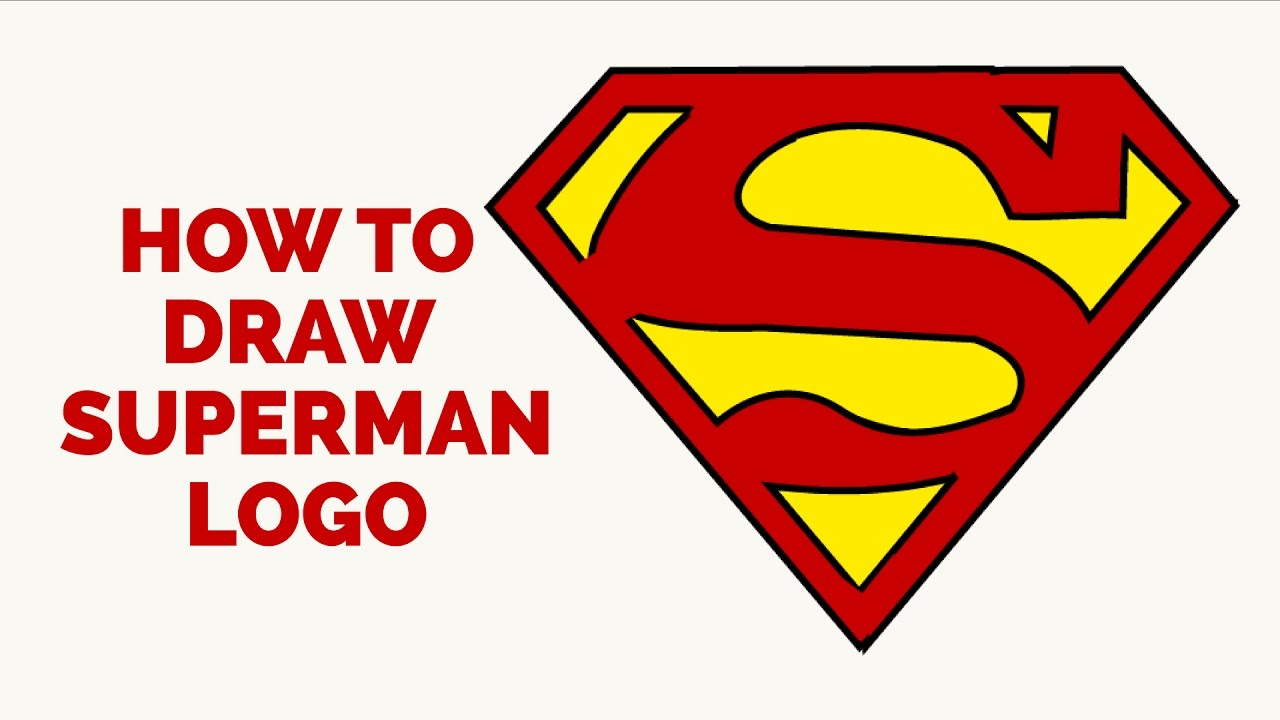 1280x720 How To Draw A Superman Logo In A Few Easy Steps Drawing Tutorial