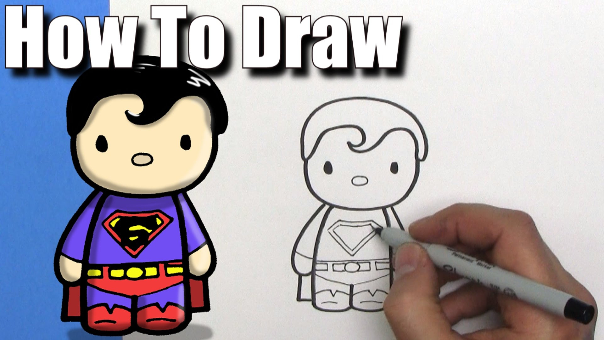 1920x1080 Superman Cartoon Drawing How To Draw A Cute Cartoon Superman