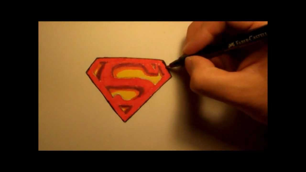 1280x720 How To Draw Superman Logo 3d