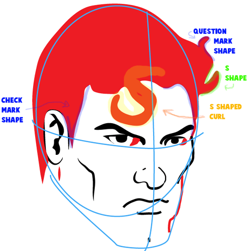 500x509 How To Draw Superman With Easy Step By Step Drawing Tutorial