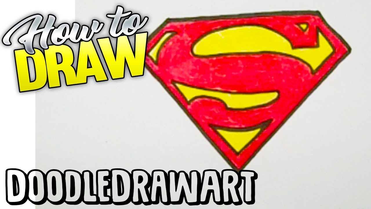1280x720 Drawing How To Draw The Superman Logo