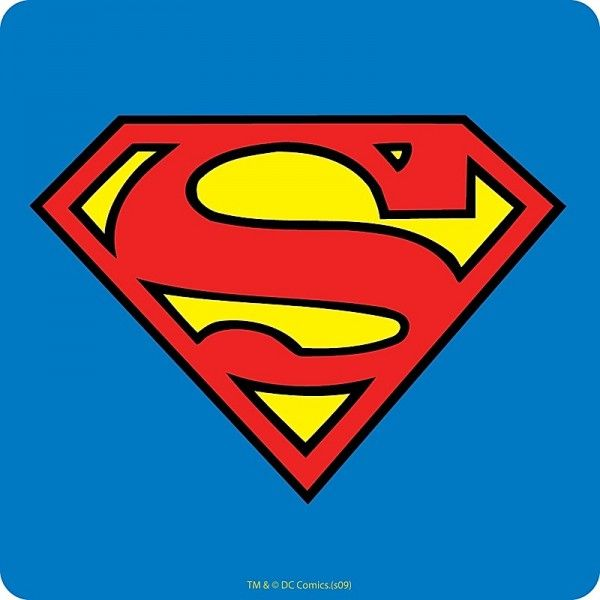 600x600 Sous Verre En Logo Superman Logos, Superman Logo