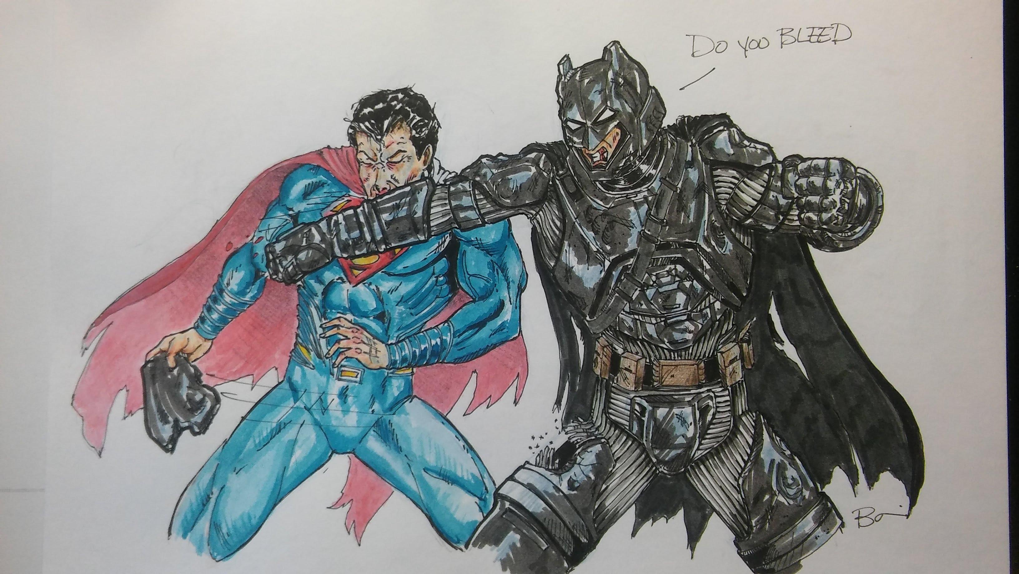 3264x1840 Batman Vs Superman Speed Drawing Dawn Of Justice The Battle