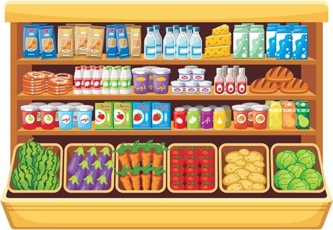 470x325 Supermarket Food Shelf Vector Free Vector In Open Office Drawing