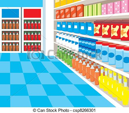 450x393 Supermarket Vector Clip Art