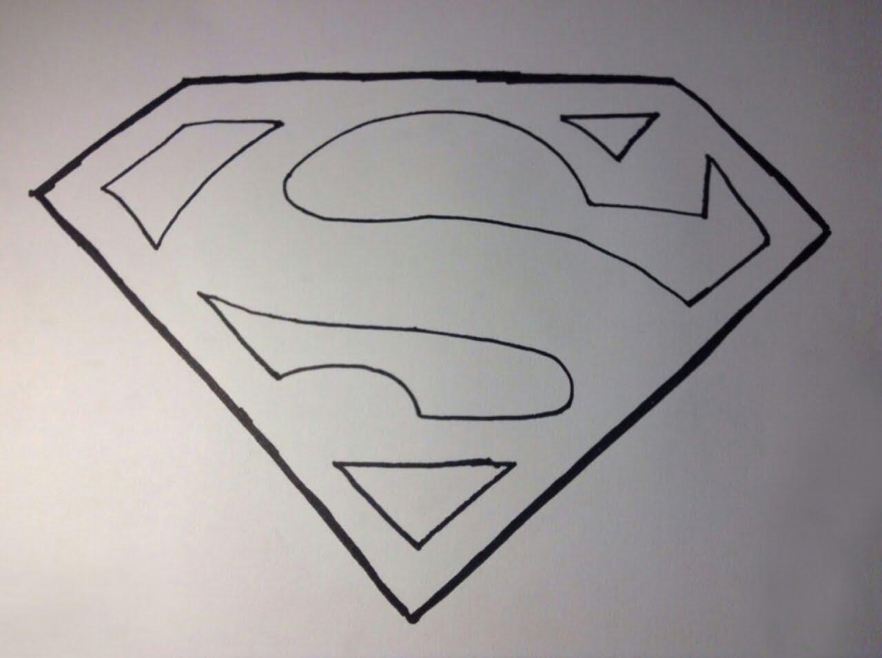 1280x955 How To Draw Superman39s Logo