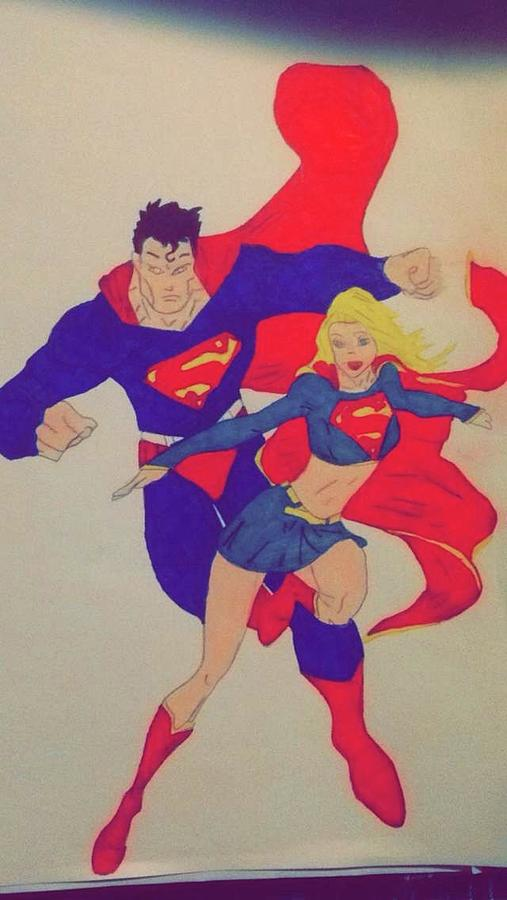 507x900 And Superwoman Drawing By Daysy Rios