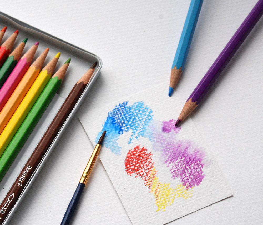 1000x855 Watercolor Pencils Drawing Pencils 12 Pencil Set Use Wet