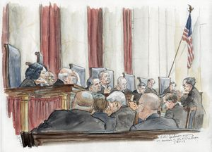 300x216 The Man Who Draws The Supreme Court