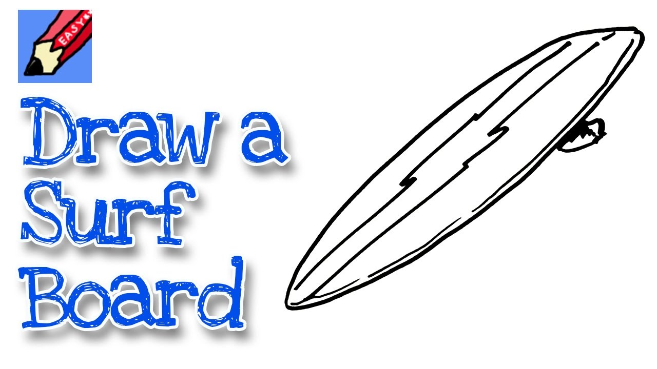 1280x720 How To Draw A Surfboard Real Easy
