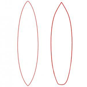 302x302 How To Draw A Surfboard, Draw Surfboards Step 3 Art (Drawing