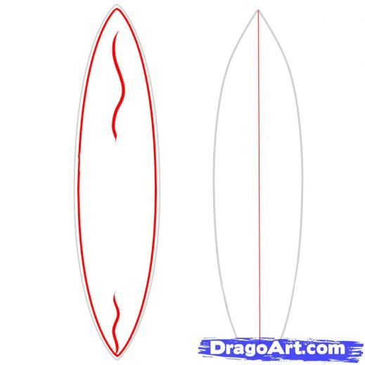 Surf Board Drawing at GetDrawings.com | Free for personal use Surf ...