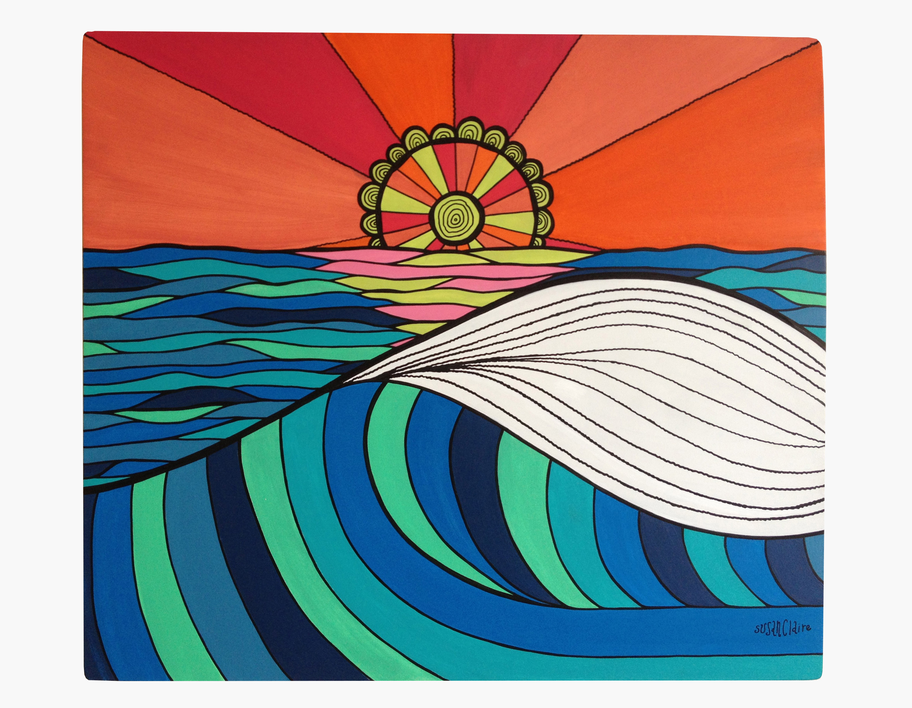 3150x2448 Ocean Draw Surf Art By Susan Claire From The Latest