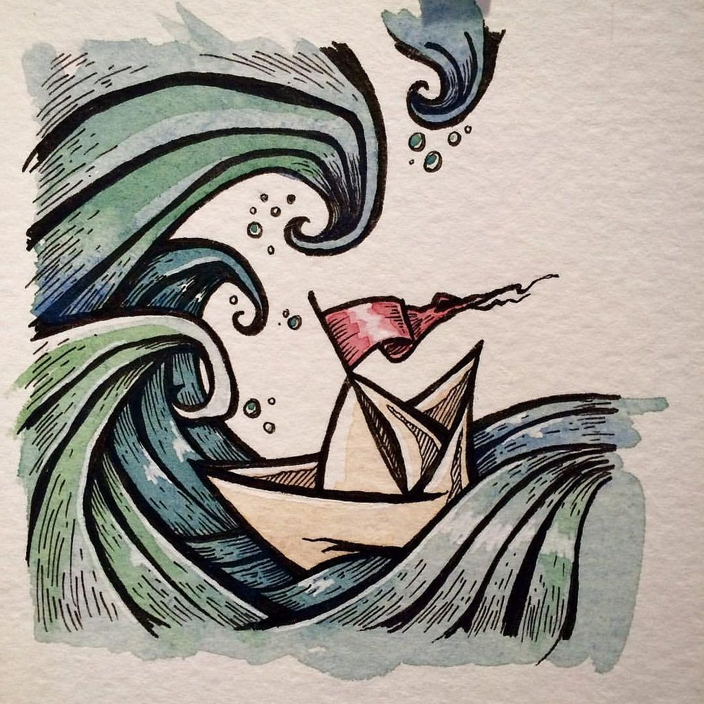1024x1024 Paper And Boats Welcome To My Life!