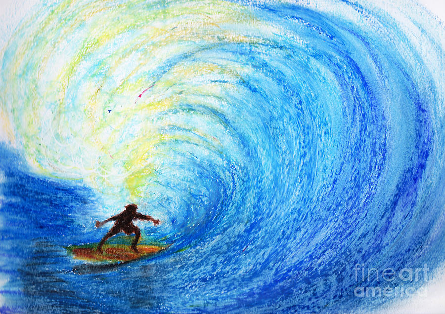 900x636 Surf Drawing By Serene Maisey