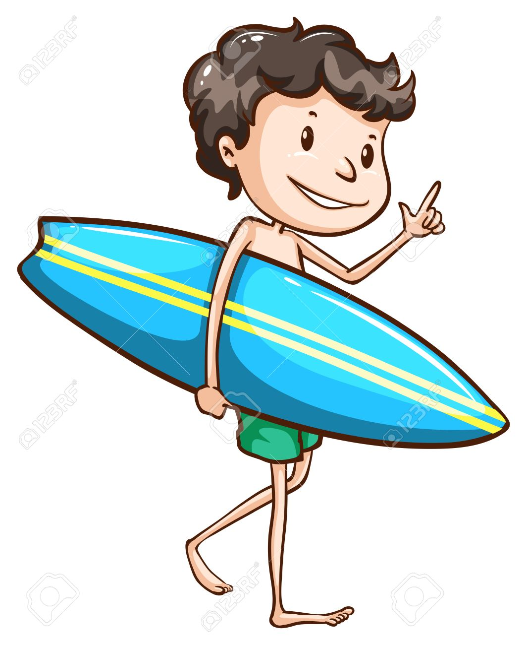 1064x1300 Illustration Of A Simple Drawing Of A Boy Going To The Beach