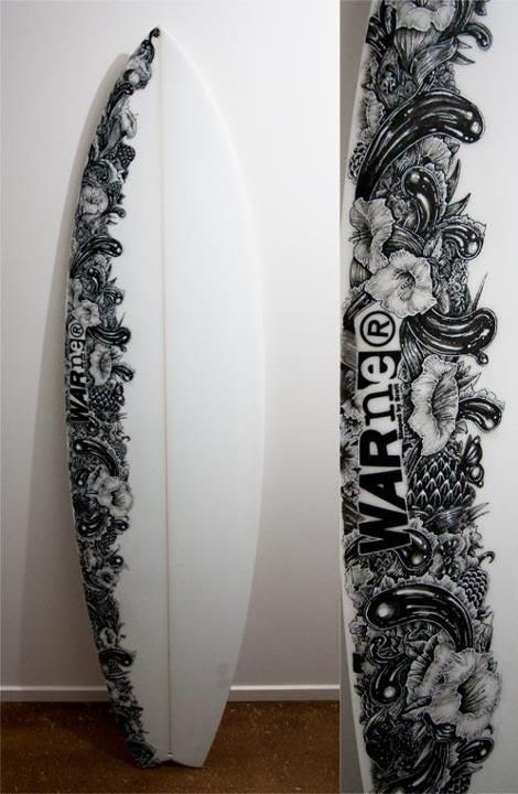 470x720 Surfboard Artwork By Unmentionables Cool Board Art