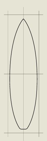 163x483 Surfboard Pattern. Use The Printable Outline For Crafts, Creating