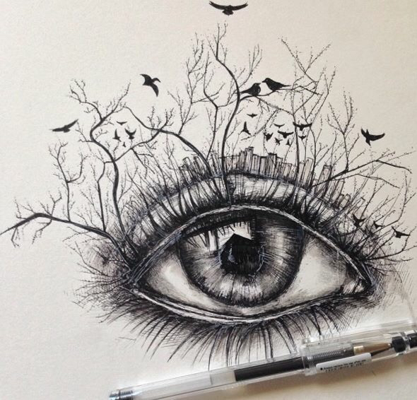 590x566 Awasome Surreal Drawing Pen By Alfred Basha Art Draw