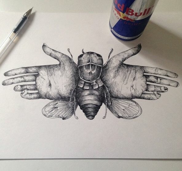592x557 Awasome Surreal Drawing Pen By Alfred Basha Art