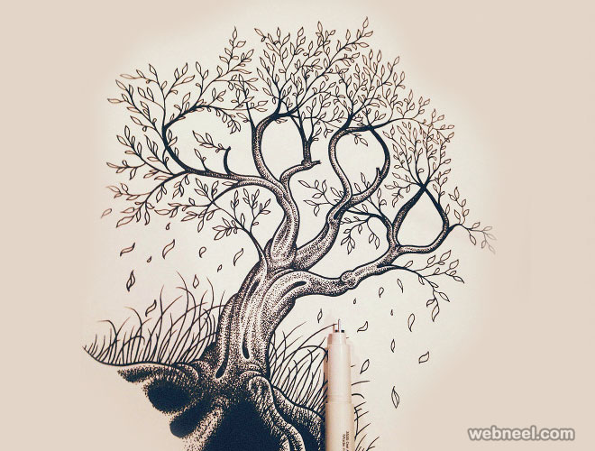 660x500 Beautiful Tree Drawings And Creative Art Ideas From Top Artists