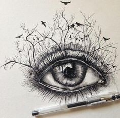 236x232 30 Expressive Drawings Of Eyes Drawing Eyes, Awesome Art And Art