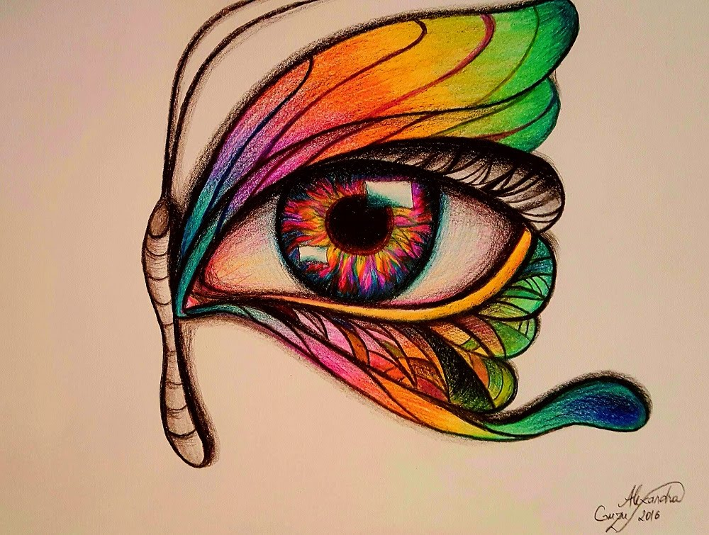 1000x755 Butterfly Eye Drawing Demo Surrealistic Super Speed