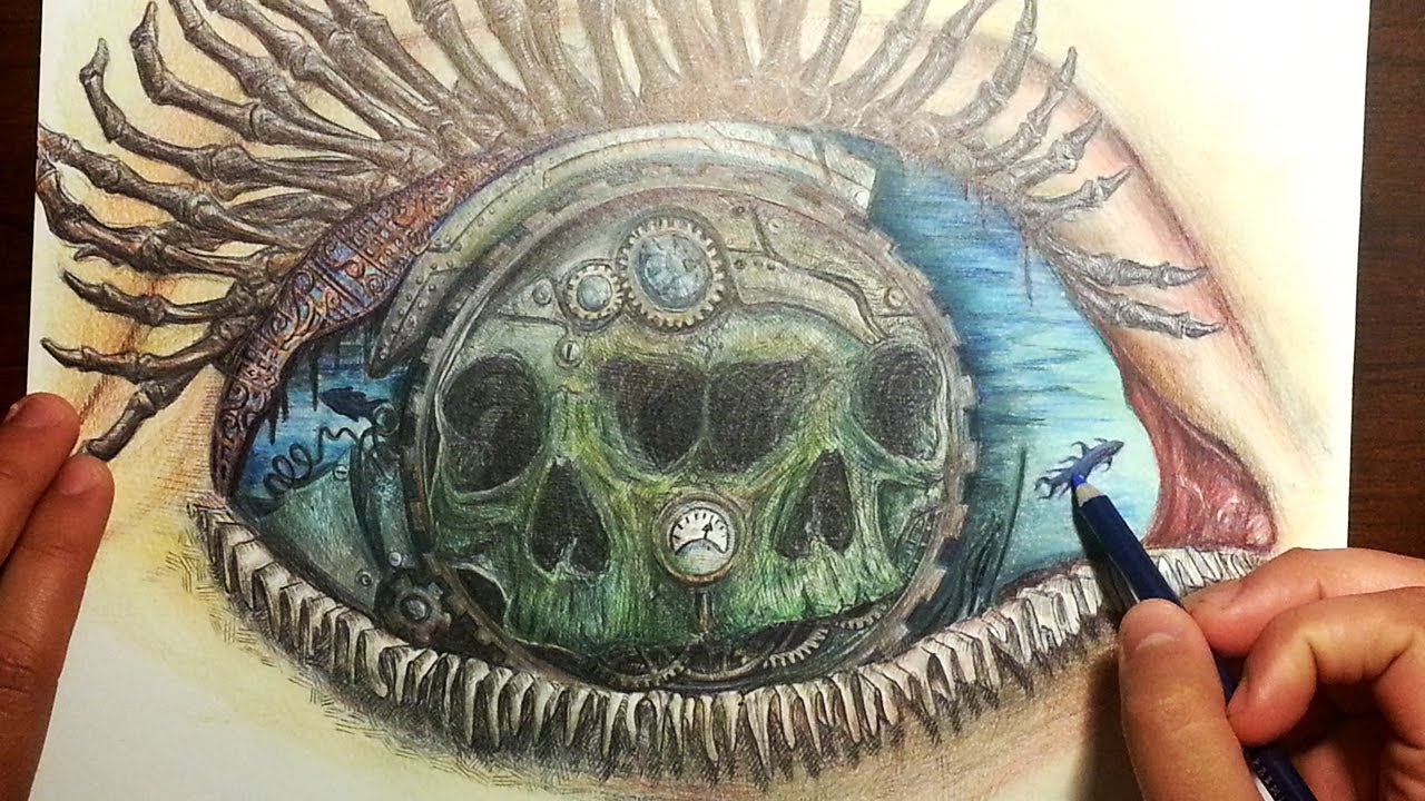 1280x720 Not What It Seems Surreal Eye Drawing