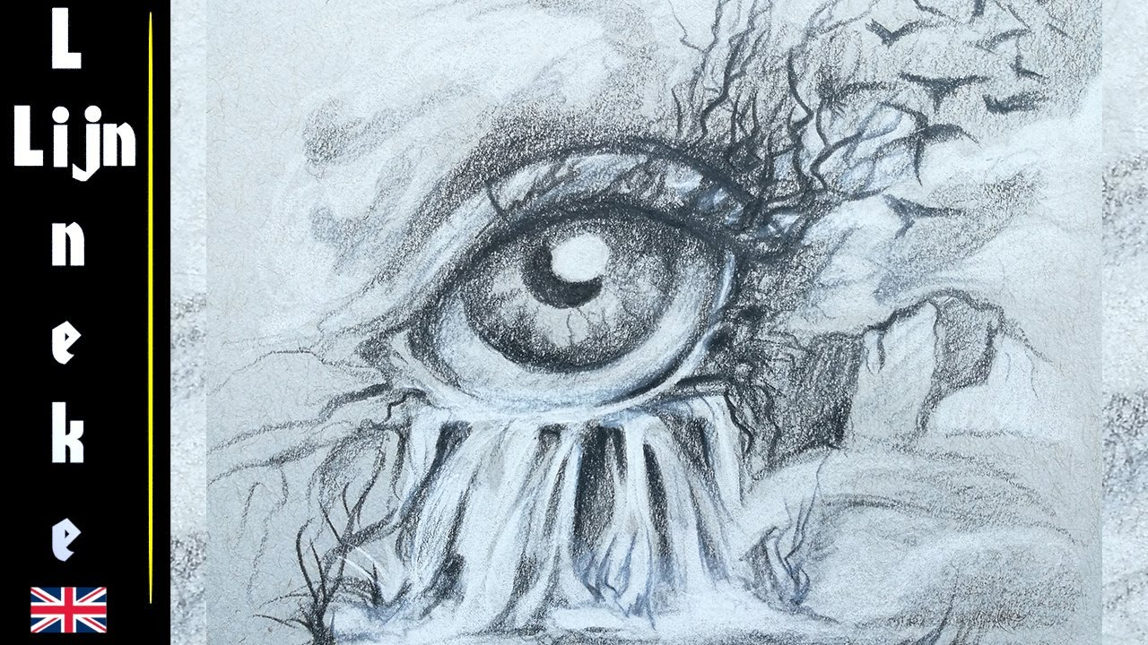 1280x720 Drawing A Surrealistic Eye