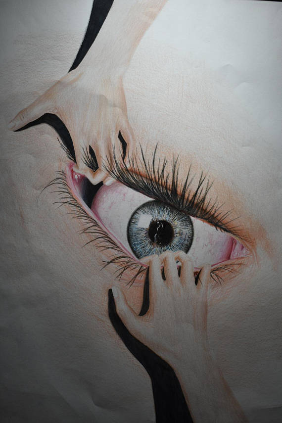 570x855 Soul Searching Surrealism Eye Drawing Optical Art Pencil