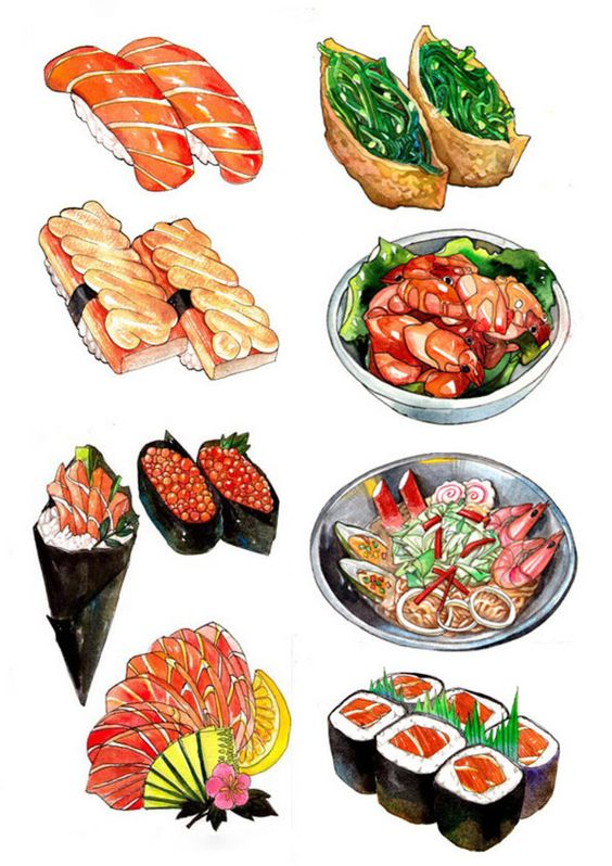 564x798 Food Illustrations Drawing Guides Drawing Guide