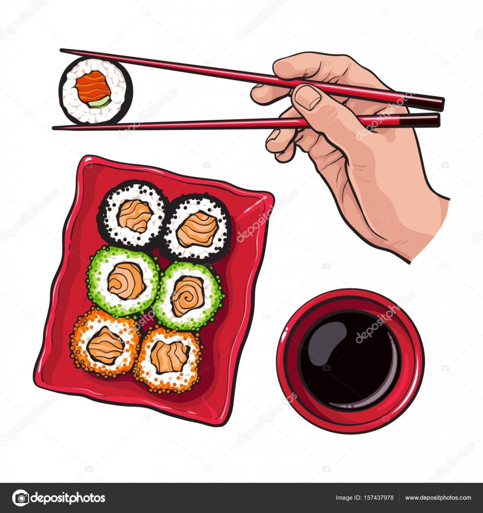 963x1024 Eating Sushi