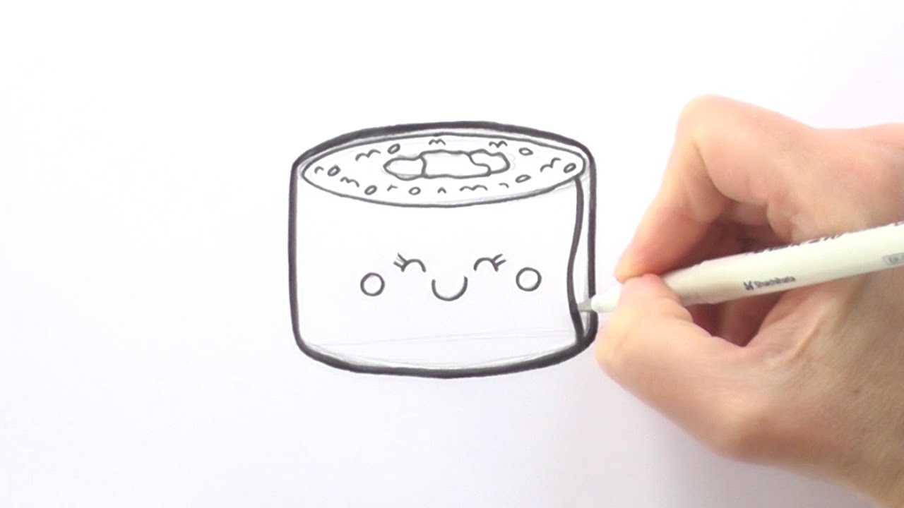 1280x720 How To Draw A Cartoon Piece Of Sushi