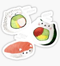 210x230 Sushi Roll Drawing Stickers Redbubble