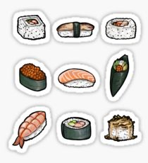 210x230 Sushi Roll Stickers Redbubble